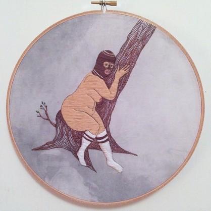 © Alaina Varrone (embroidery). More @ www.alainavarrone.com